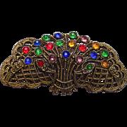 Multi Colored Rhinestone Brooch