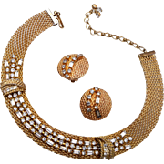 Jewels by Julio Mesh Necklace and Earring Set