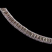 Sterling Square Marcasite Bracelet