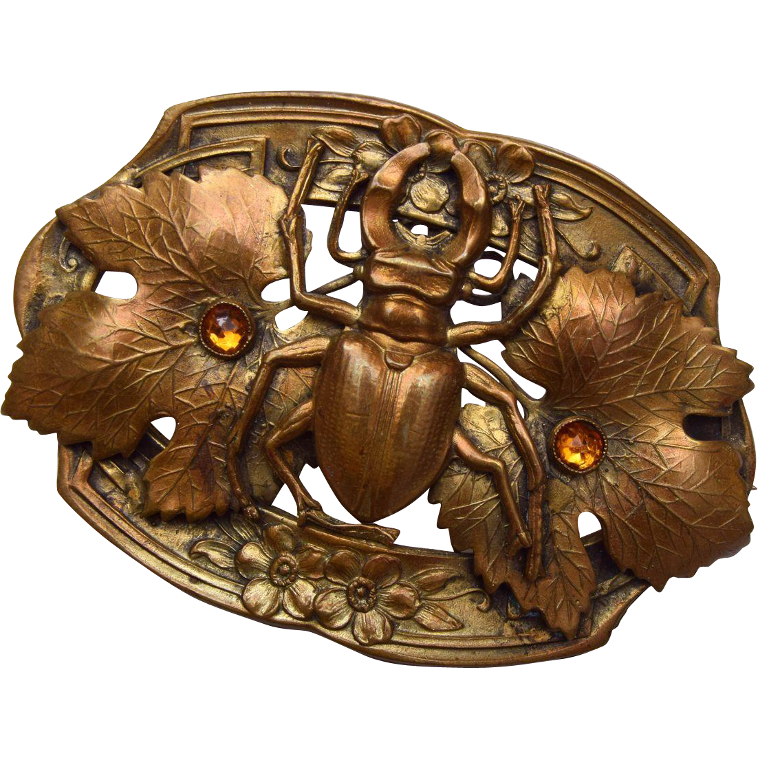 Late 1800's Beetle Sash Pin