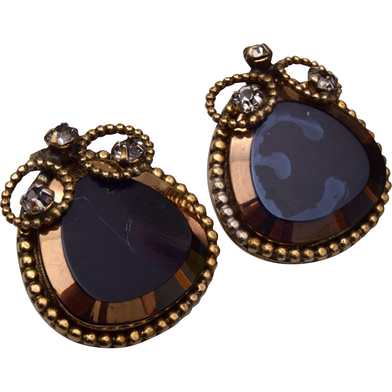 Robert Lustered Glass Earrings