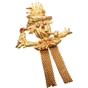Figural Scarecrow Brooch