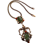 2 Glass Intaglio Necklace