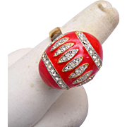 Eisenberg Red Easter Egg Ring