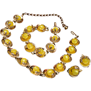 Yellow Thermoset Parure