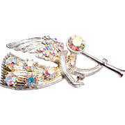Eisenberg Ice AB Rhinestone Angel Brooch