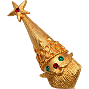 Mylu Christmas Santa Tree Brooch