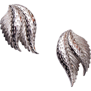 Schiaparelli Silver Leaf Earrings