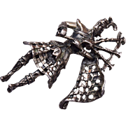 Danecraft Sterling Scottish Bagpipe Player Brooch