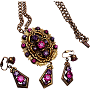 St. Labre Necklace/Pendant and Earring Set