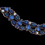 Schiaparelli Blue Lava Glass Bracelet