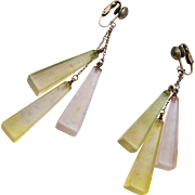 3 Dangle Lucite Earrings