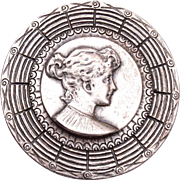 Silver Cameo Brooch