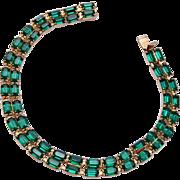 Kramer Green Rhinestone Bracelet