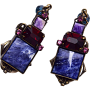 Sorrelli Lapis and Amethyst Earrings