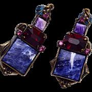 Sorrelli Lapis and Amethyst Earrings