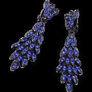 Thelma Deutsch Blue Dangle Earrings