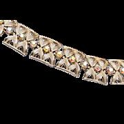 Coro and Pegasus AB Rhinestone Bracelet