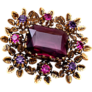 Austria Purple Stone Brooch