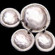 Ginnie Johansen Silver Toned Modern Brooch