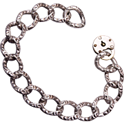 Curb Style Sterling Bracelet with Pad Lock Clasp