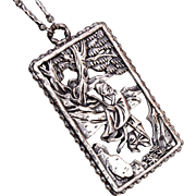 Napier Oriental Picture Pendant and Necklace