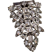 Clear Rhinestone Dress Clip