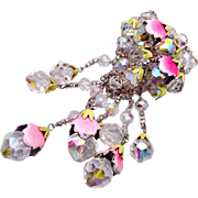 Vendome Enamel and Faceted Crystal Brooch