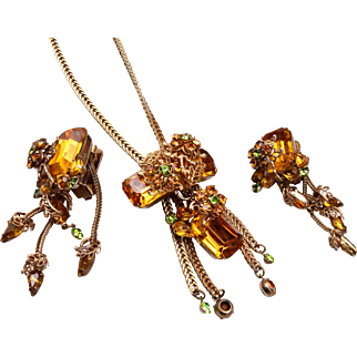 Topaz Necklace and Earring Set