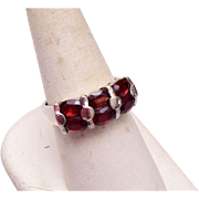 Sterling and Garnet Ring Size 9