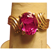 14K Gold Ruby Ring - size 8 1/2