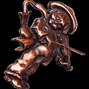 1941 Silson Patent Pending Little Fiddler Brooch