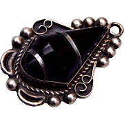 Mexico Sterling and Onyx Pendant or Charm
