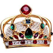 Beautiful Swarovski Crown Brooch