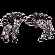 Warner Black and White Dangle Earrings