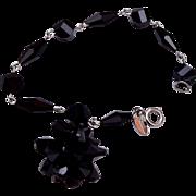 Vendome Black Crystal Dangle Bracelet