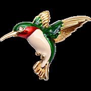Gerry's Hummingbird Enameled Brooch