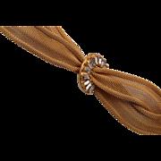 Napier Gold Mesh and Rhinestone Bracelet