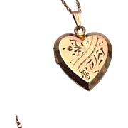 12kt Gold Filled Heart Locket Necklace
