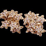 Rhinestone Dangling Star Earrings