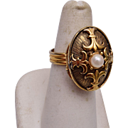 Luzier Purfume Real Pearl Ring Size 8 (Adjustable)
