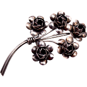 Sterling by Coro Flower Brooch 1940's