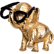 GOP Elephant Needs Glasses Brooch