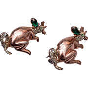 Pair of Sterling Coro-Craft Mice Brooches
