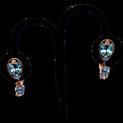 Gold Filled Aqua Stone Earrings