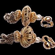 Gold Tone Chandelier Earrings