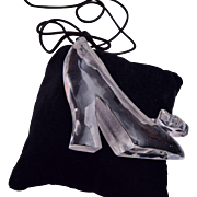 Lucite High Heel Shoe Pendant Necklace