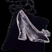 Lucite High Heel Shoe Pendant Necklace