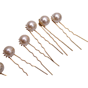 7 Faux Pearl Hair Decorations