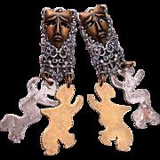1994 Susan Richardson Pierced Earrings